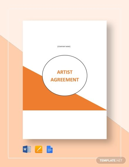 Artist Agreement Template Free Pdf Word Apple Pages Google Docs Templates Contract Template Words
