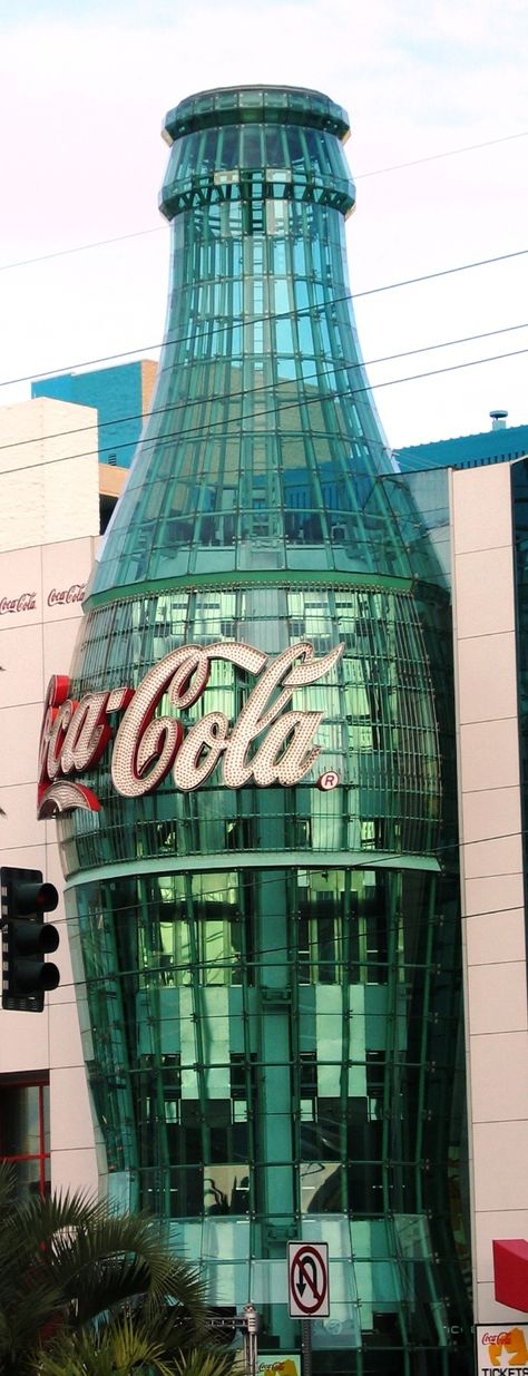 This enormous Coke bottle used to house a Coca- Cola museum where you could sample dozens of  different Coke products from around the world.  Sadly it is now closed. This would have been a cool place to go. :)