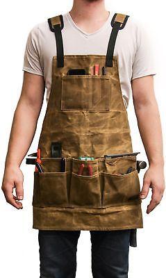 Adultos Delantal Con Bolsillo uniforme de trabajo de lona artista Cafe Restaurante Work Wear