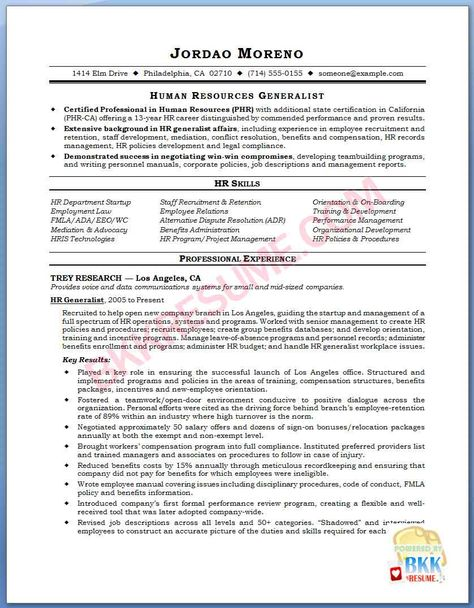 Human Resource Assistant Resume Sample (resumecompanion) #HR - sample resume for human resource assistant