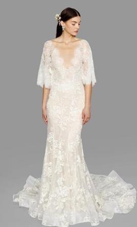 Marchesa Essence Size 4 Used Wedding Dress Front View On Model Marchesa Bridal Essence Wedding Dresses Bridal Dresses