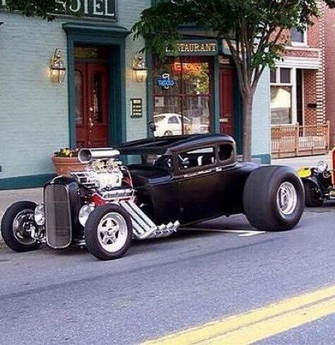Afternoon Drive: Hot Rods & Rat Rods Photos) A hot rod is a specific type of automobile that has been modified to produce more power for racing straight ahead. The hot rod originated in the early. Rat Rods, Classic Hot Rod, Classic Cars, Classic Style, Hot Rod Autos, Carros Audi, Hot Rides, Car Wheels, Street Rods