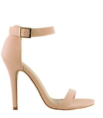 Strapped Success Heel - Nude | Open toe, Ankle straps and Nude