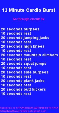 12 Minute Cardio Burst