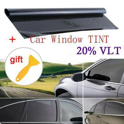 Sponsored Link 100 50cm New Car Home Window Tint 20 Vlt Black Film Foil Sticker Decal Scraper Window Tint Film Tinted Windows Glass Office