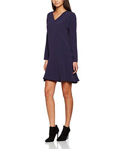 Tommy Hilfiger Damen Greta Dress Ls Kleid Blau Eclipse 476 38 Blaues Kleid Kleider Modische Kleider