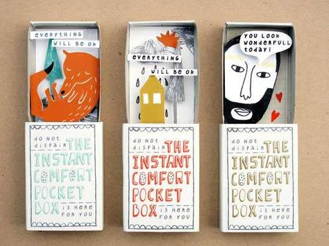 Uplifting Affirmation Art - Instant Comfort Pocket Boxes Will Brighten Up Your Cloudy Day (GALLERY)