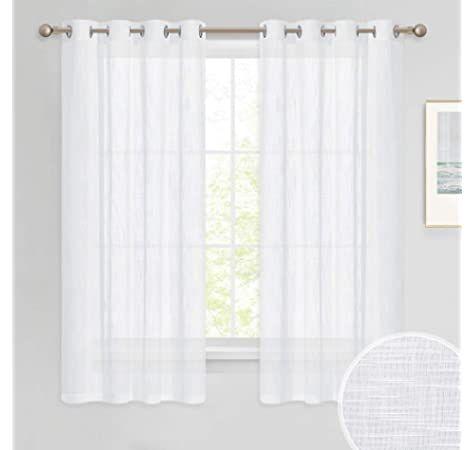 topfinel rideaux voilage blanc 140x160