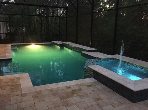 Neighbor\'s pool by Southern Pool Designs, Sanford Florida   Pool ...