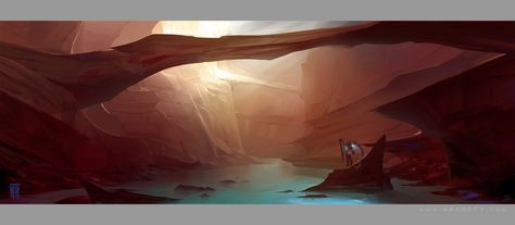 The Canyon Trench Concept Art by ArtofTy