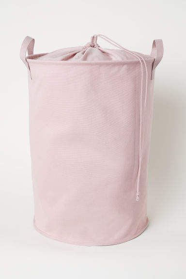 H M Cotton Twill Laundry Bag Pink Laundry Bag Bag Light
