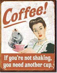 Drink Coffee do Stupid things faster Coffee Menu Tin Sign Wall Poster Home Decor