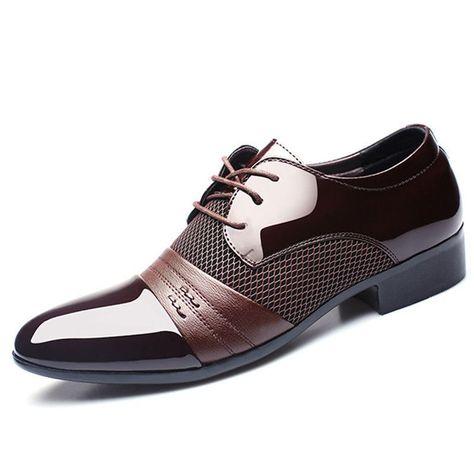2016 Classical Men Dress Flat Shoes Luxury Men's Business Oxfords Casual  Shoe Black / Brown Leather Derby Shoes | Products | Pinterest | Brown  leather shoes ...