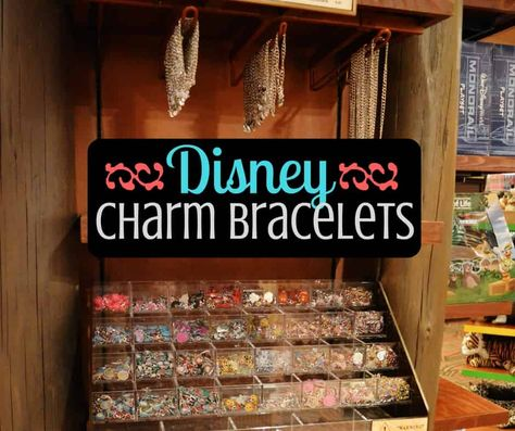 When traveling to Disney, many people want a souvenir to bring home as a keepsake. My favorites is the Disney-themed charmed bracelet. Check them out!