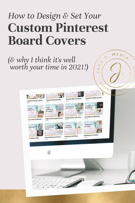 How to Design & Add Custom Branded Pinterest Board Covers