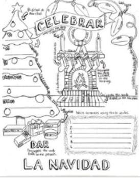 Ar Verb Christmas Conjugation Coloring Sheet Review Activities Spanish Homeschool Language Arts