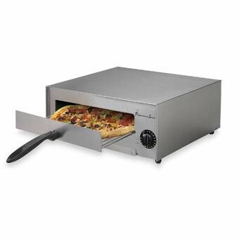 Euro Cuisine Electric Rotating Countertop Pizza Oven With Lid
