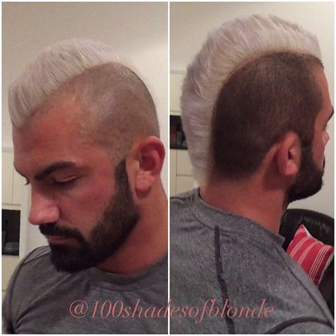 My bros cool new hair colour silvery ash blonde, love it! ☄❄️ #silverhair…