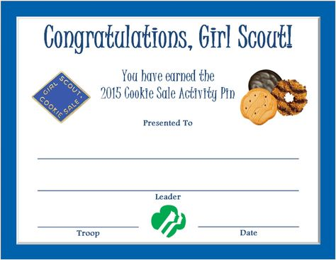 2015 Girl Scout Official Cookie Pin~ Electric Blue ~ Metal ~Pre-Owned