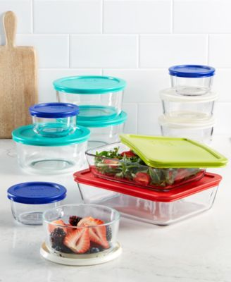 Pyrex 22 Piece Food Storage Container Set Created For Macy S