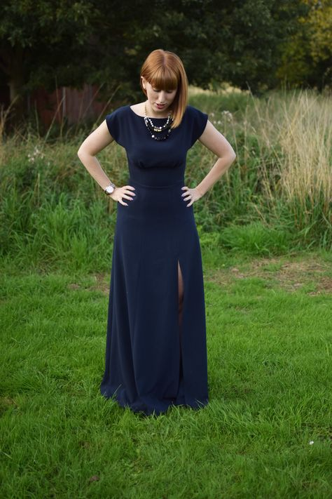 By Hand London Anna Dress Navy Crepe Fabric from Sew Over It