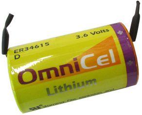Omnicel Er34615 D Size 3 6 Volt 19ah Lithium Battery With Tabs Batteriesandbutter Com Lithium Battery Battery 9 Volt Battery