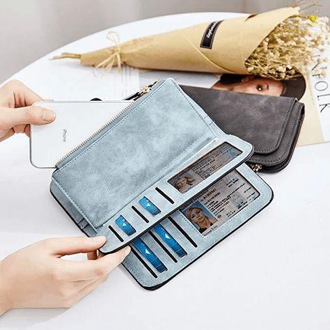 RETRO Glamorous Multiple Slots Women Wallets - BLUE
