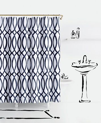 Painted Trellis Cotton Shower Curtain With Images Kate Spade