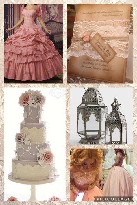 Vintage Quinceanera Dusty Rose, lace and pearls, xv, quince