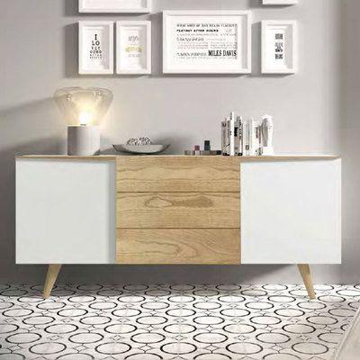Buffet scandinave blanc et bois clair. Collection de meubles ...
