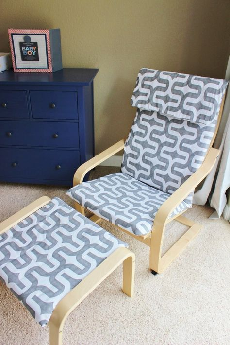 15.IKEA Poang Chair hack with Slipcover | Featured at