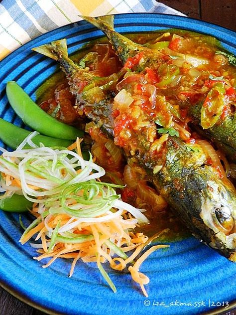 masak ikan kembung  enak hans cooking recipes Resepi Ikan Siakap Goreng Sos Thai Enak dan Mudah
