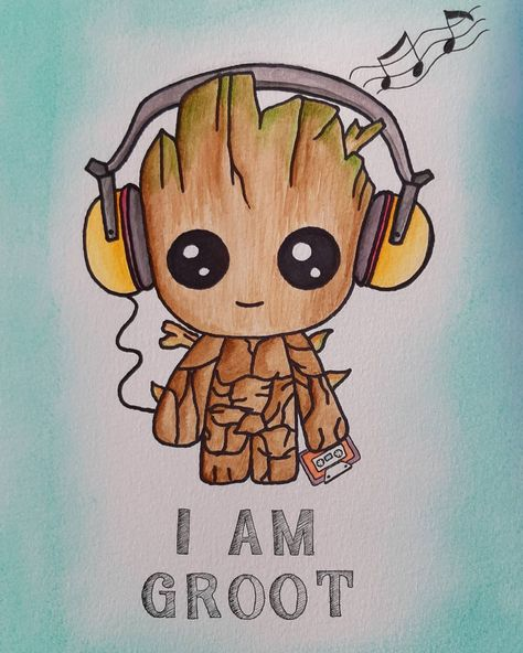 My little baby groot, loved this buddy. The cute music lover🌿🌳 #fantasy #fantasyart #guardiansofthegalaxy #guardiansofthegalaxyvol2…