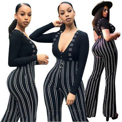 Fiere Womens Casual Rompers Plaid Long Sleeve Skinny Clubwear Jumpsuit