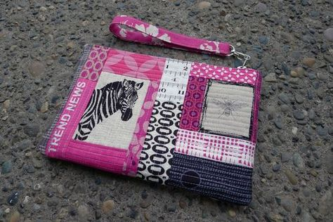 Oh Fransson: How to make quilted patchwork panels for a structured bag.