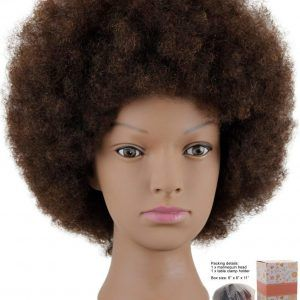 Mannequin Head African American With 100 Human Hair Cosmetology Afro Hair Manikin Head For Practice Styling Braiding Hair Mannequin Afro Hairstyles Afrocentric Hairstyles