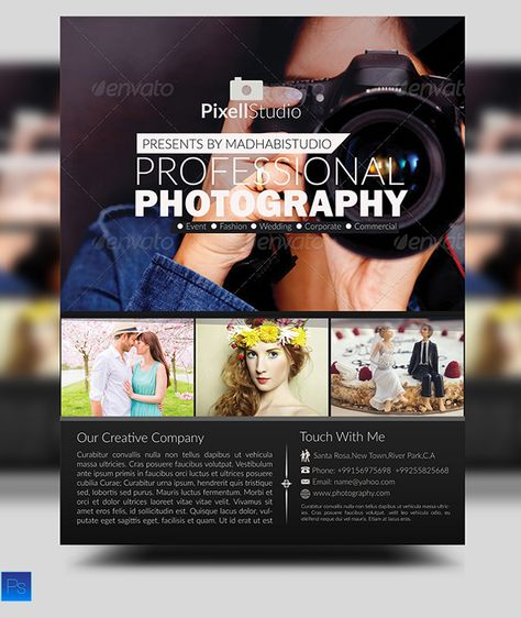 Photography Flyer Template by Business Templates on Creative - photography flyer