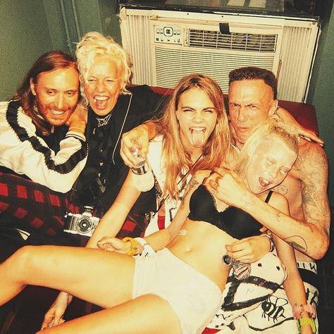 David Guetta and Cara Delevigne in the same photo OMGGG