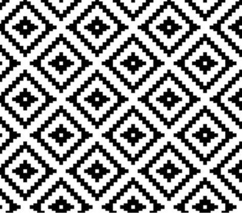 Black & White Tribal Buffalo Crib Bedding Set - Monochromatic Toddler Bedding Set - Tribal Baby Bedd