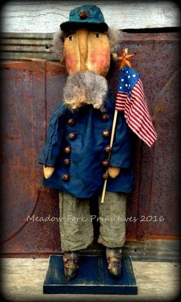 Primitive Handmade Americana Civil War Soldier Confederate