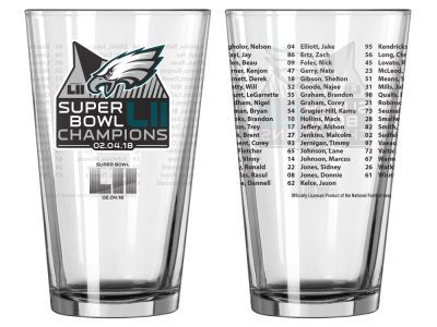 Philadelphia Eagles 16oz Roster Pint Event Eagles Super Bowl