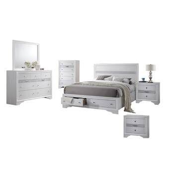 Regil Standard Bed White Bedroom Set Bedroom Set Bedroom Sets Queen