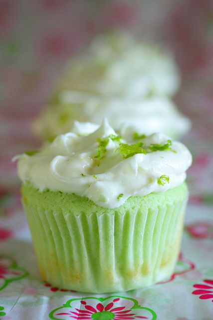 Key Lime cupcakes.