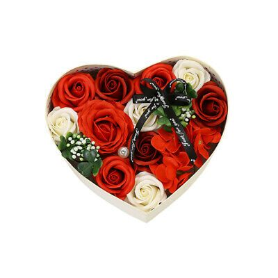 Details About 1pc Gift Box Decorative Creative Romantic Heart Soap Flower Gift Box For Friends Flower Soap Flower Gift Heart Soap