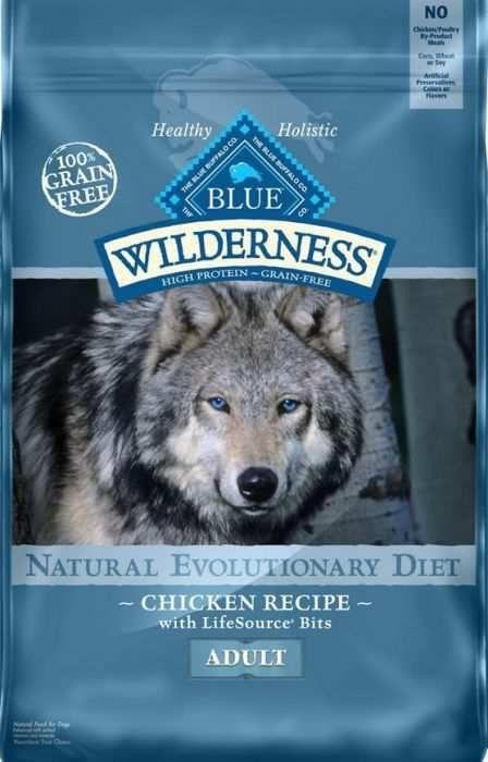 Blue Wilderness Adult Dog Food Grain Free Natural Chicken New