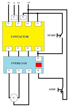 Dol Starter Circuit Diagram Wiring Single Phase For Motor Star Pertaining To Excellent Sta Electrical Circuit Diagram Circuit Diagram Electrical Wiring Diagram