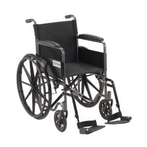 Drive Silver Sport 1 Wheelchair With Full Arms And Swing Away Removable Footrest Ssp118fa Sf Wheelchair Sports Manual Wheelchair Mobility Scooter