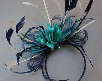 059f1c2f66772 Caprilite Silver Grey Flower Veil Feathers Fascinator On Headband Wedding