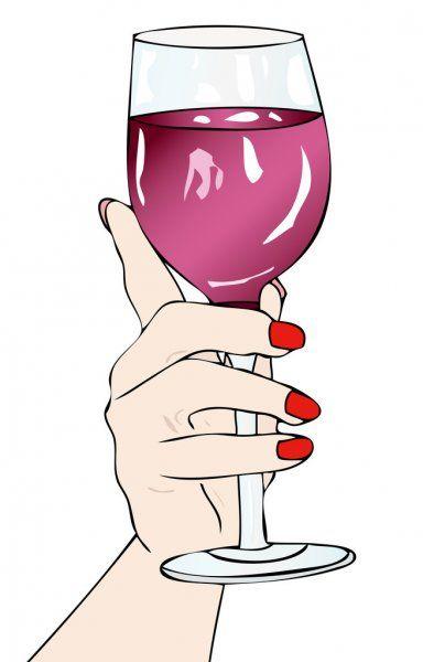 En Vino Veritas Ilustración De Stock Copa De Vino Tinto Copas De Vino Copas De Champán