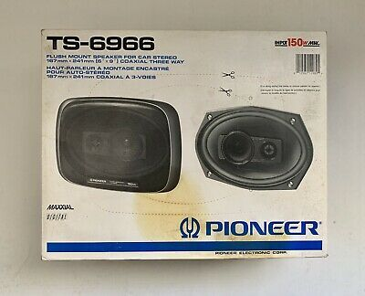 Pair Pioneer Flush Mount Car Stereo Speakers Ts 6966 150w New Car Stereo Car Stereo Speakers Pioneer Car Stereo